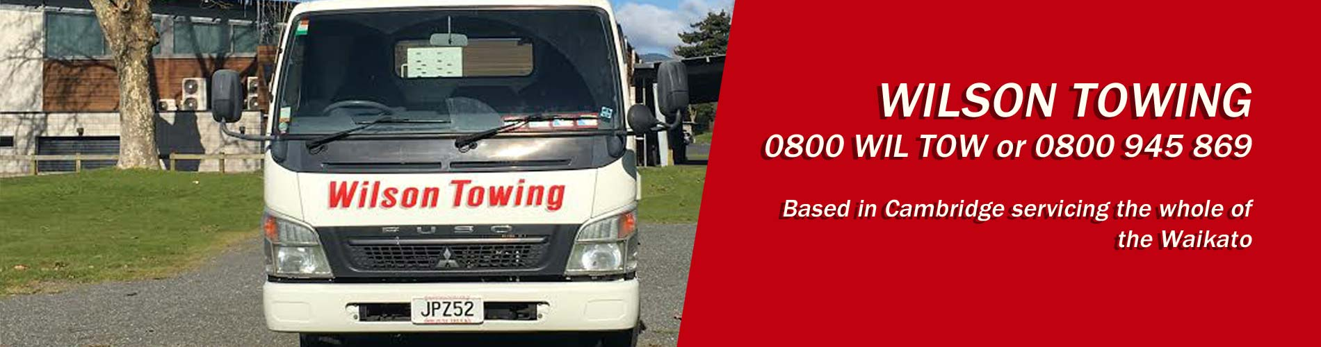 Wilson Towing offering towing services in Cambridge, Waikato